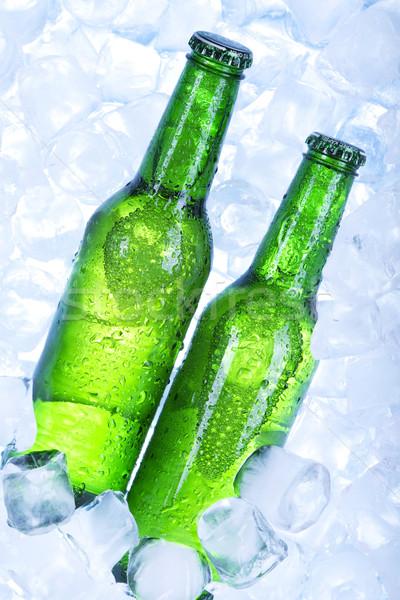 Foto stock: Frío · cerveza · hielo · vidrio · beber · burbujas