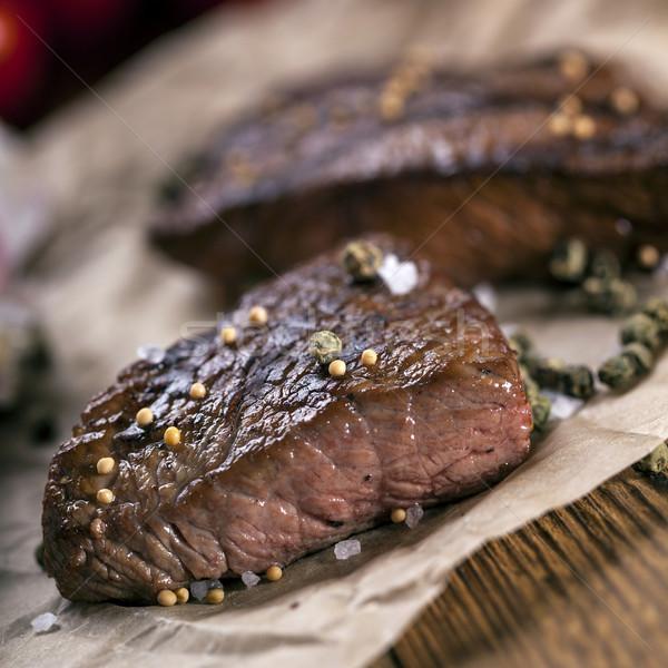 Сток-фото: отлично · жареный · говядины · служивший · овощей · специи