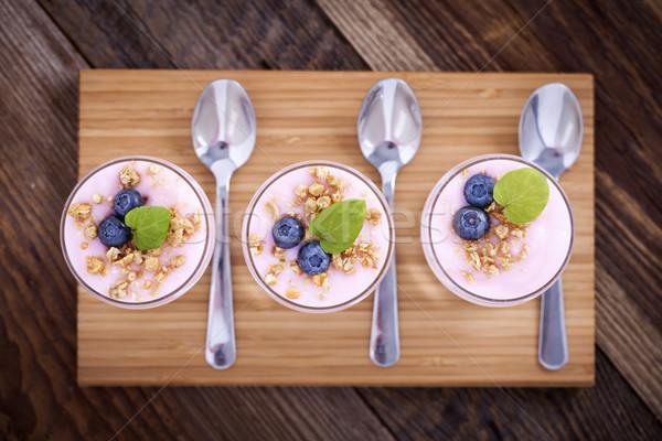 ストックフォト: デザート · 2 · 味 · ヨーグルト