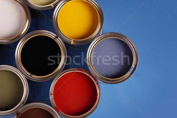 Pintar casa casa metal arte nosso Foto stock © BrunoWeltmann