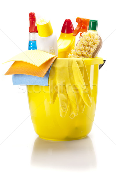 Nettoyage isolé blanche maison maison Photo stock © BrunoWeltmann