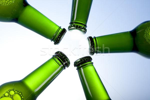 Foto stock: Frio · cerveja · gelo · vidro · bubbles · álcool