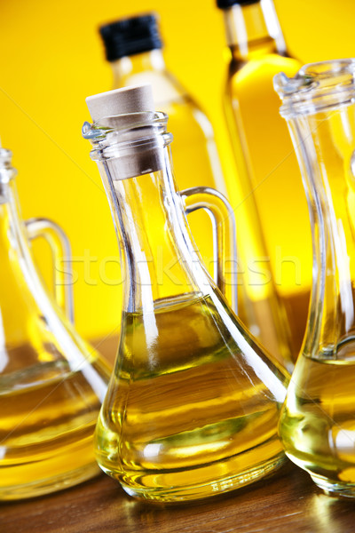 Olive oil and olives Stock photo © BrunoWeltmann