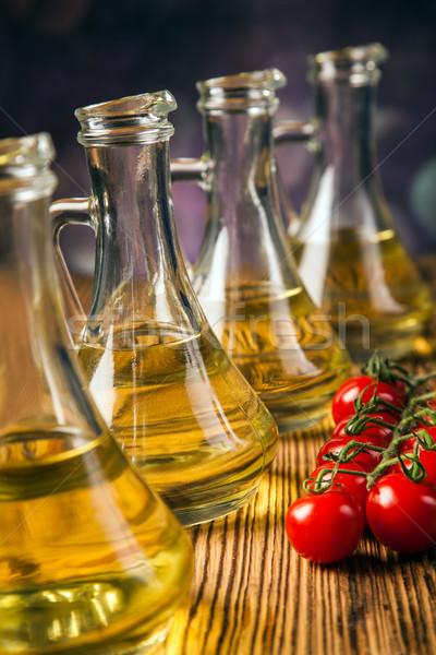 オリーブ ボトル 健康 キッチン 表 ストックフォト © BrunoWeltmann