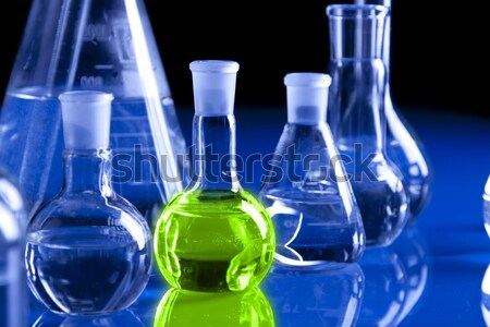 Laboratory glassware Stock photo © BrunoWeltmann