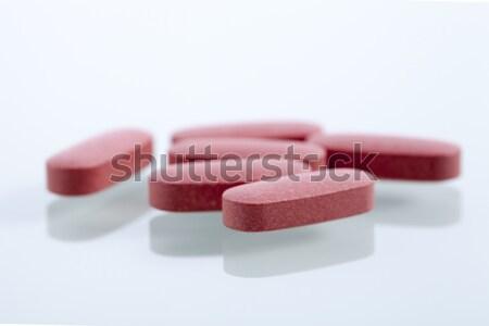 Szett kapszulák fehér stúdiófelvétel háttér gyógyszer Stock fotó © BrunoWeltmann