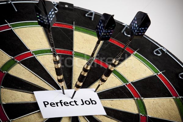 Darts üzlet munka állás nyíl tábla Stock fotó © BrunoWeltmann