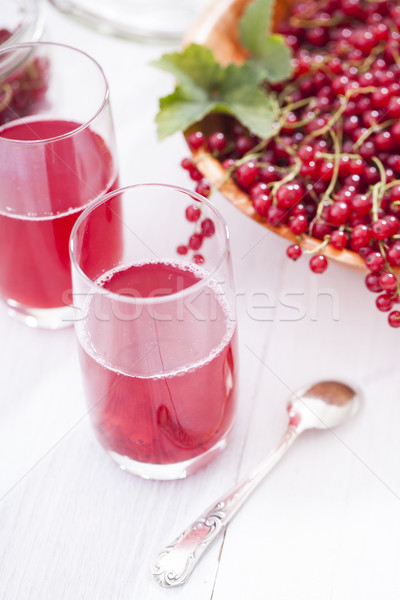 Healthy red currants in a bowl with extras Stock photo © BrunoWeltmann