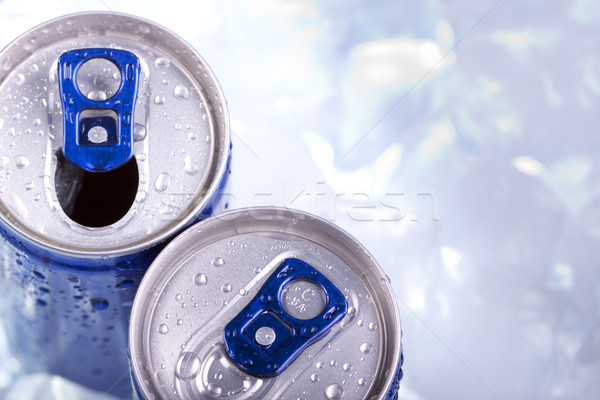 Energy drink in ice! Top view  Stock photo © BrunoWeltmann