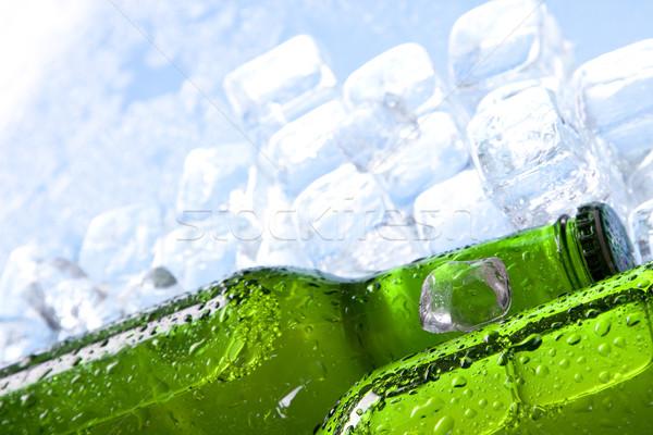 Stok fotoğraf: Soğuk · bira · buz · cam · kabarcıklar · alkol