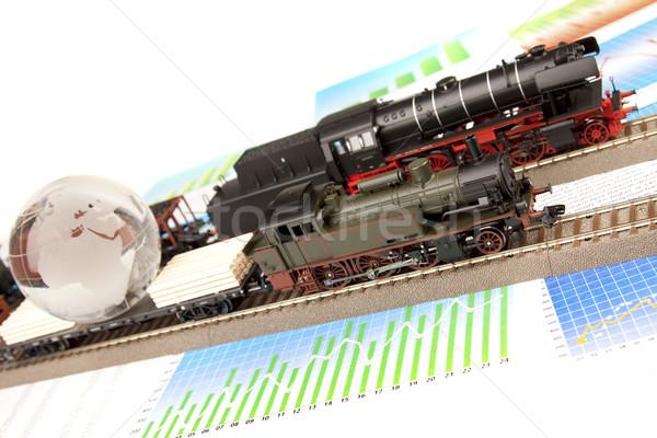 Stockfoto: Trein · modellen · vervoer · wereld · ruimte · groep
