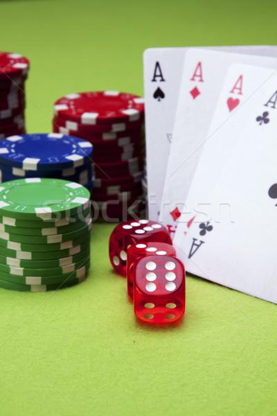 Casino geld ontwerp ruimte groene succes Stockfoto © BrunoWeltmann