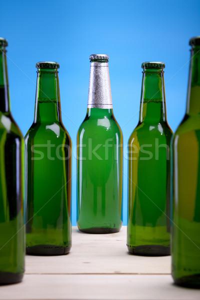 Stock fotó: Jó · sör · bár · üveg · arany · buborékok