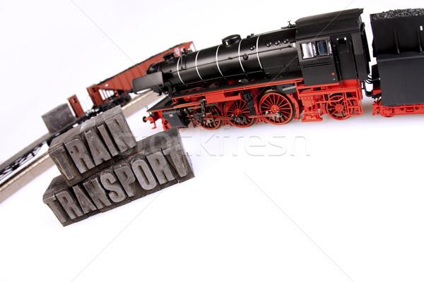 Trein modellen vervoer wereld ruimte groep Stockfoto © BrunoWeltmann