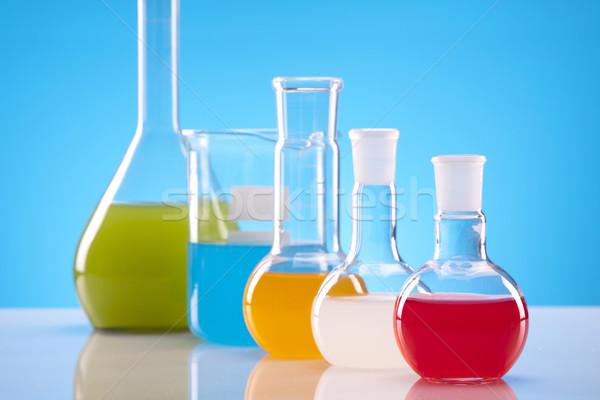 Színes gyógyszer labor vegyi folyadék teszt Stock fotó © BrunoWeltmann