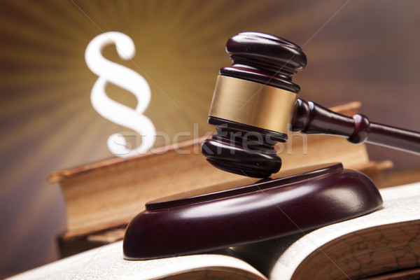 прав правосудия молота белый судья баланса Сток-фото © BrunoWeltmann