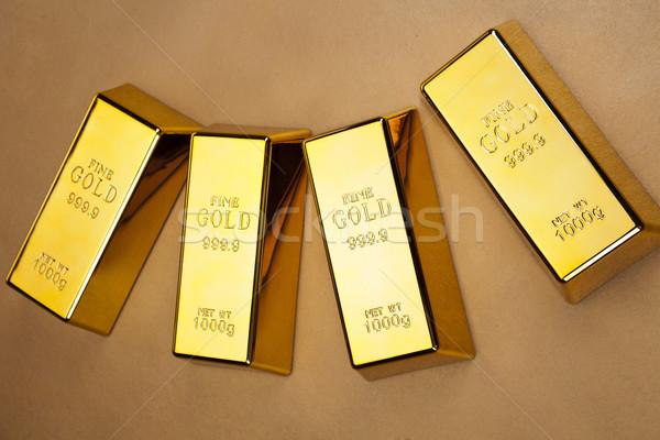Gold bars photo Stock photo © BrunoWeltmann