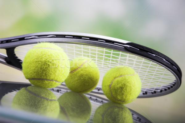 A set of tennis. Racket and ball. Stock photo © BrunoWeltmann