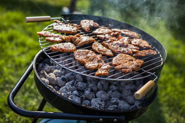 Barbecue in the garden, really tasty dinner! Stock photo © BrunoWeltmann
