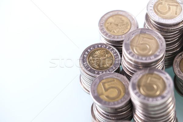 貯蓄 業績 金融 コイン 白 ビジネス ストックフォト © BrunoWeltmann