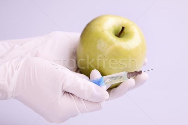 Genético investigación frutas naturaleza manzana frutas Foto stock © BrunoWeltmann