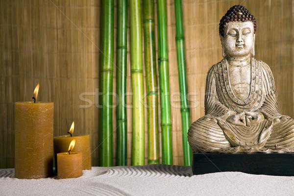 Portrait buddha beauté fumée Photo stock © BrunoWeltmann