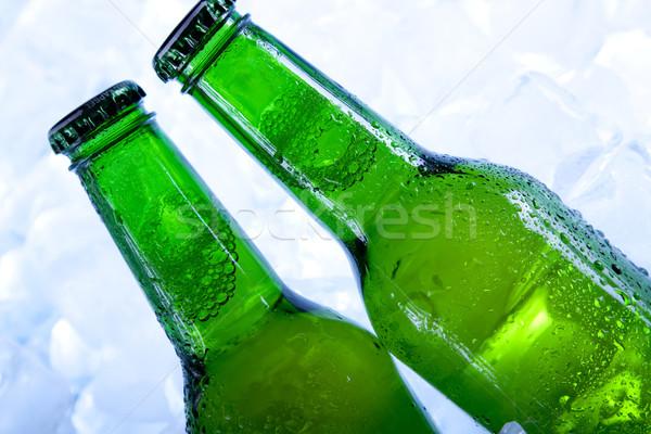 Stok fotoğraf: Soğuk · bira · buz · cam · kabarcıklar · serin