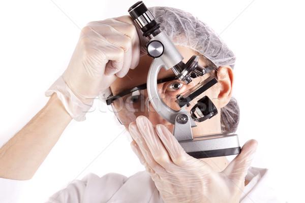 Wetenschapper glimlach gezicht arts medische technologie Stockfoto © BrunoWeltmann