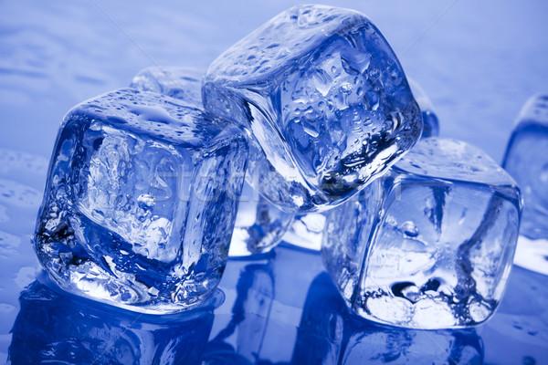 Buz tuğla temizlemek serin arka Stok fotoğraf © BrunoWeltmann