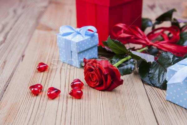 день любителей подарки страстный красный Сток-фото © BrunoWeltmann