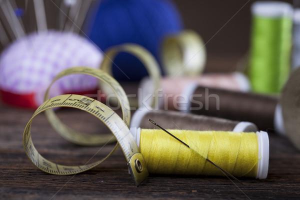 De costura materiais estúdio foto trabalhar Foto stock © BrunoWeltmann
