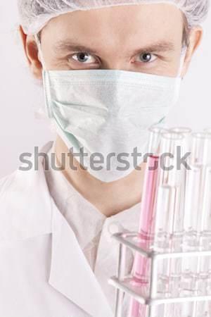 Cientista sorrir cara médico tecnologia saúde Foto stock © BrunoWeltmann