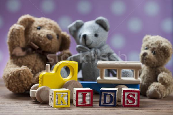 Children's World toy on a wooden background. Stock photo © BrunoWeltmann