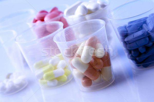 étel kiegészítők táplálkozás sport fitnessz egészség Stock fotó © BrunoWeltmann