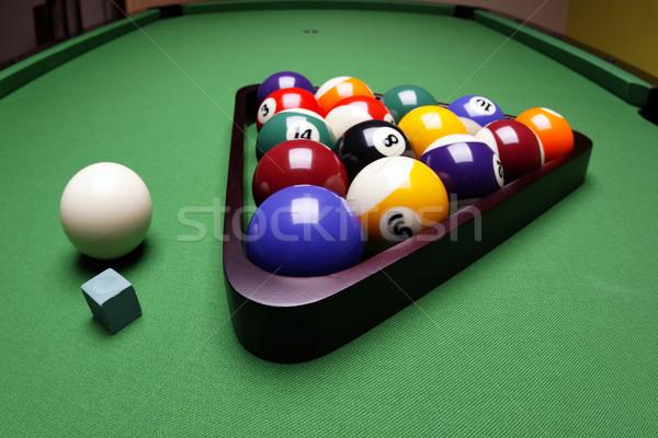 Сток-фото: игры · бассейна · зеленый · таблице · весело
