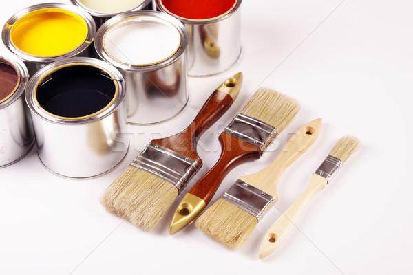 Pittura casa arte colore drop bianco Foto d'archivio © BrunoWeltmann