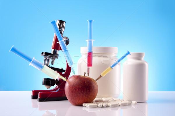 Voedsel wetenschap medische fitness gezondheid gymnasium Stockfoto © BrunoWeltmann