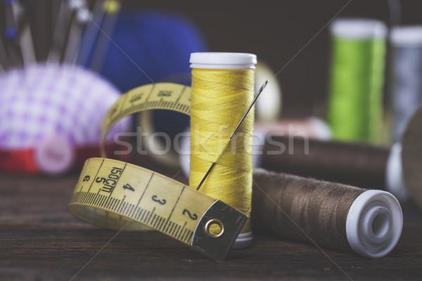Varr tűk anyagok stúdió fotó munka Stock fotó © BrunoWeltmann
