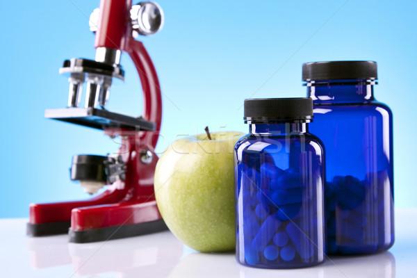 étel tudomány orvosi fitnessz egészség tornaterem Stock fotó © BrunoWeltmann
