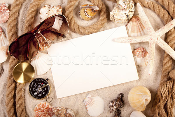 Say hello! Beach and message concept Stock photo © BrunoWeltmann