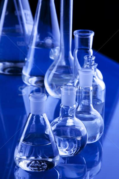 Laboratorium wyroby szklane medycznych laboratorium chemicznych płynnych Zdjęcia stock © BrunoWeltmann