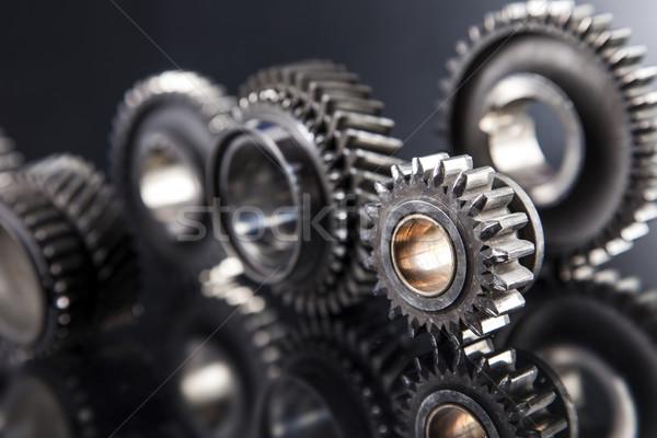 ビッグ 金属 歯車 黒 技術 ストックフォト © BrunoWeltmann
