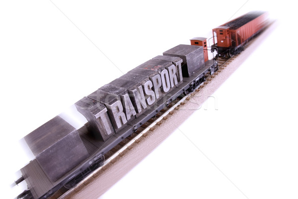 Stock photo: Train models, transport concept
