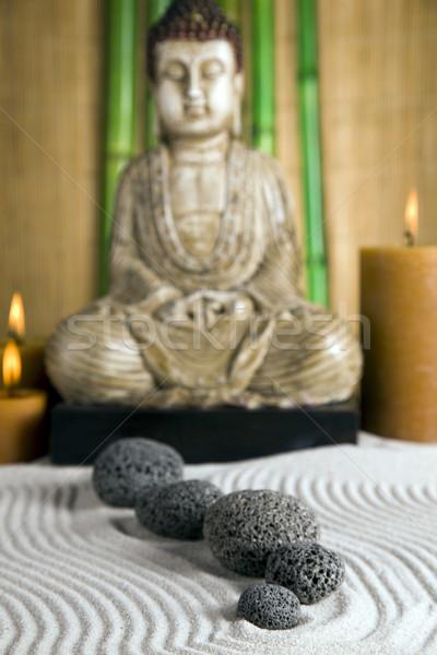 Portret buddha schoonheid rook Stockfoto © BrunoWeltmann