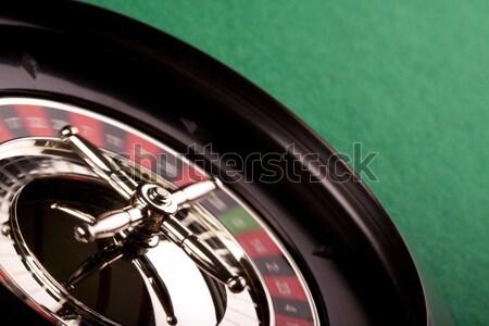Rulett kaszinó piros fekete szín siker Stock fotó © BrunoWeltmann