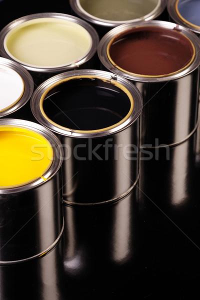 краской дома домой металл искусства чернила Сток-фото © BrunoWeltmann