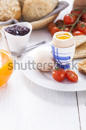 Huevo manana brindis atasco café tomates Foto stock © BrunoWeltmann