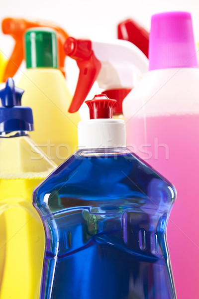 Cleaning items set Stock photo © BrunoWeltmann
