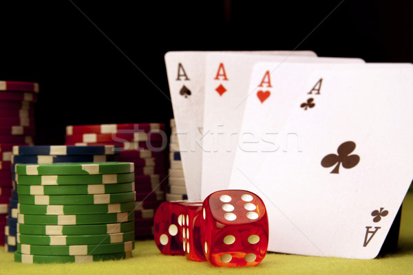 Casino soldi design spazio verde successo Foto d'archivio © BrunoWeltmann