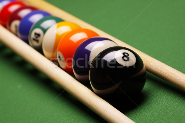 Pool game, billard Stock photo © BrunoWeltmann